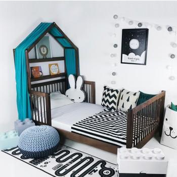 통원목 아이유 하우스 침대 에쉬 메이플 월넛